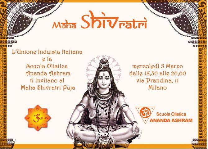 Scuola Olistica Ananda Ashram - Maha Sivratri