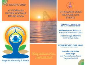 21 giugno – 6° giornata internazionale dello yoga