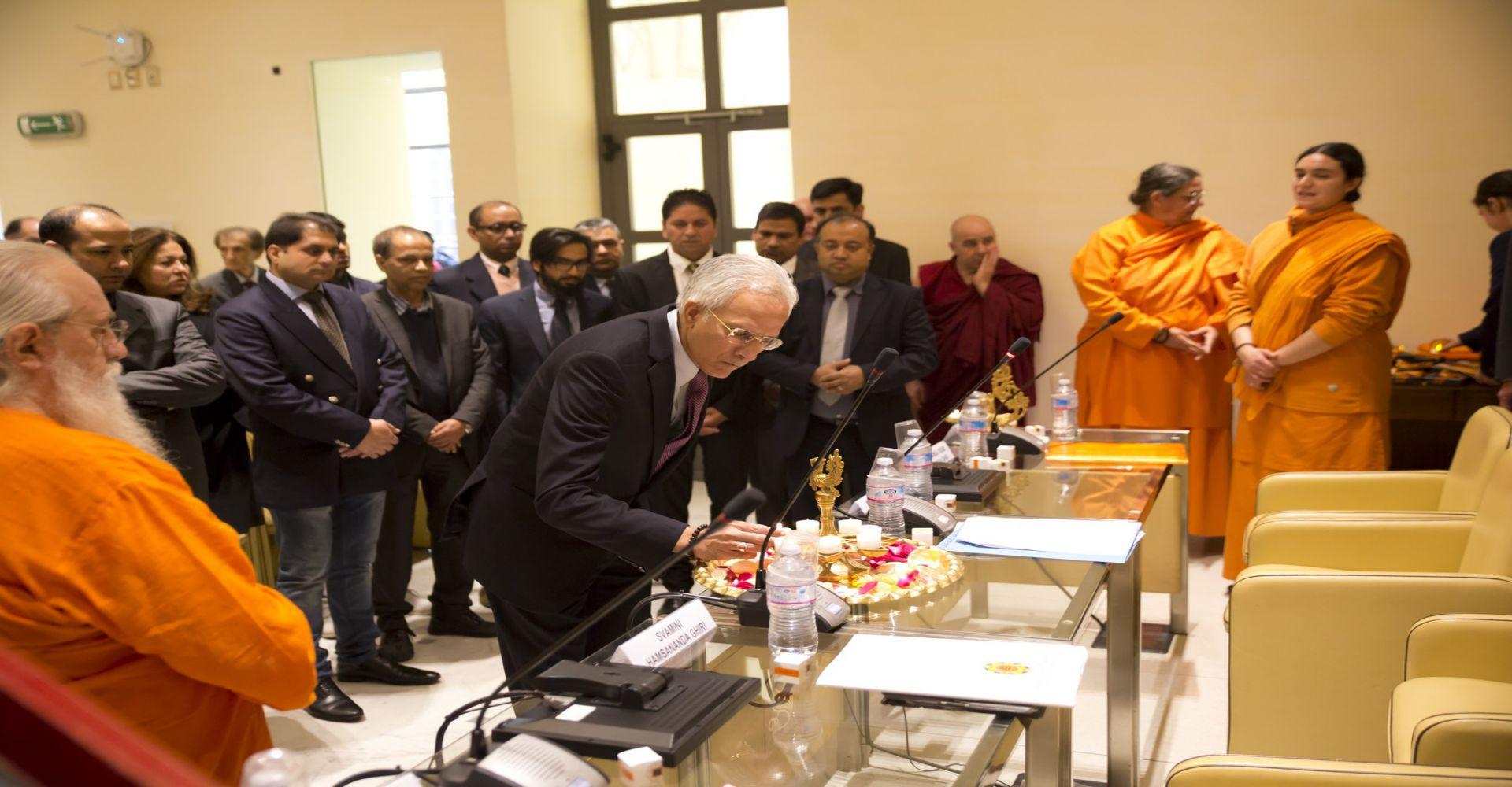 Dipavali al Senato - S.E. l'Ambasciatore dell'India a Roma, Basant K. Gupta